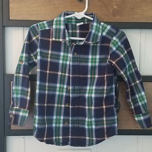 3t old navy plaid light weight button up